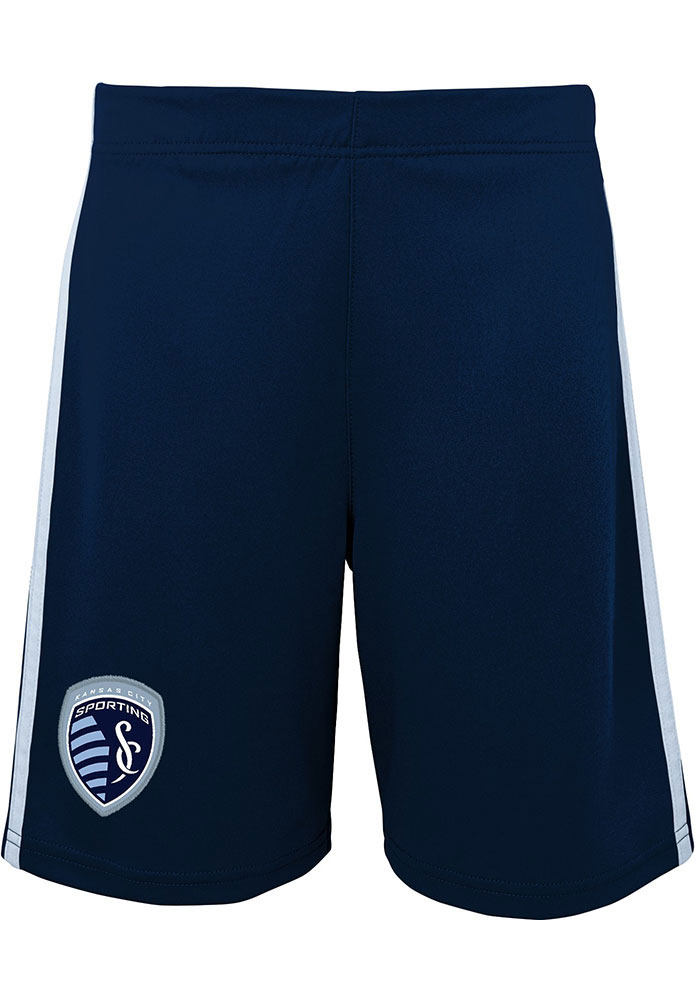 Sporting Kansas City Boys Navy Blue Fan Shorts - Image 1