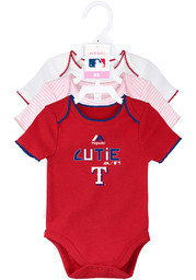 Texas Rangers Baby Red 3rd Quarter One Piece