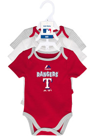 Texas Rangers Baby Red 3rd Down One Piece