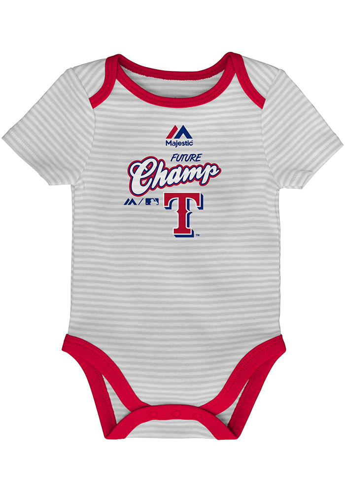 Texas Rangers Baby Red 3rd Down One Piece - Image 2