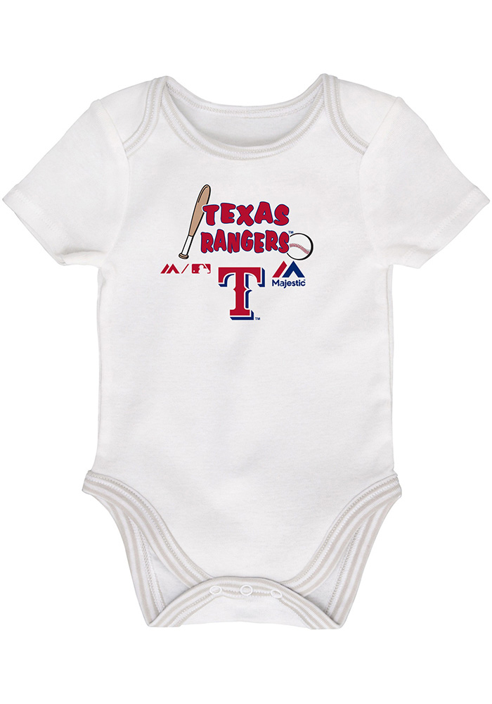 Texas Rangers Baby Red 3rd Down One Piece - Image 3