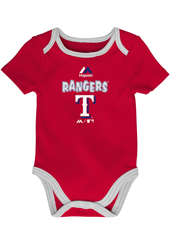Texas Rangers Baby Red 3rd Down One Piece - Image 4