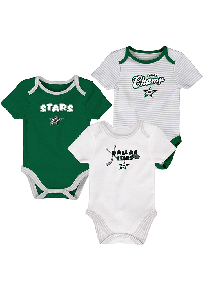 Dallas Stars Baby Kelly Green 3rd Quarter One Piece - Image 1