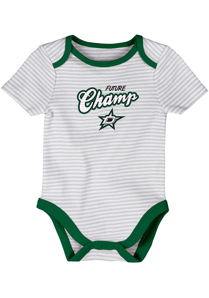 Dallas Stars Baby Kelly Green 3rd Quarter One Piece - Image 3