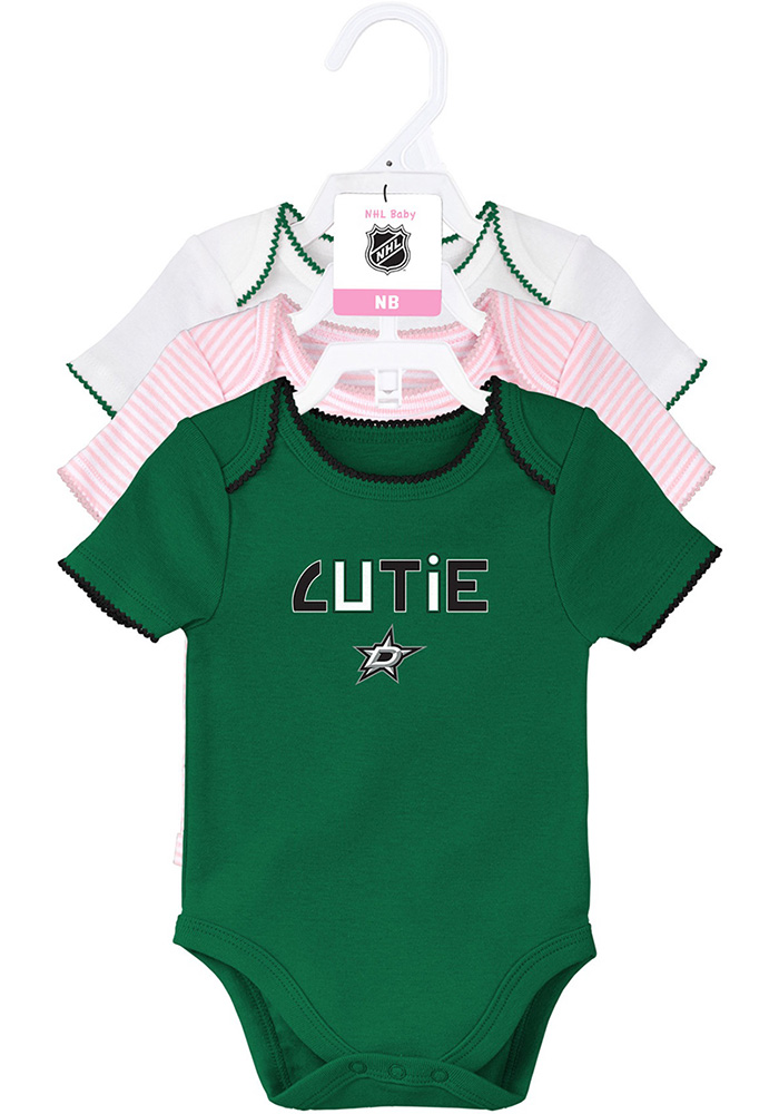 Dallas Stars Baby Kelly Green 3rd Down Set One Piece - Image 1