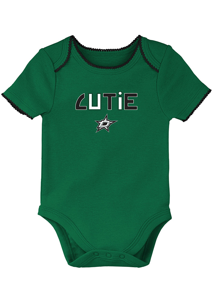 Dallas Stars Baby Kelly Green 3rd Down Set One Piece - Image 2