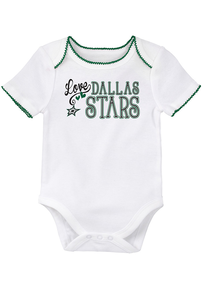 Dallas Stars Baby Kelly Green 3rd Down Set One Piece - Image 3