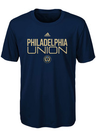 Philadelphia Union Boys Locker Stacked T-Shirt - Navy Blue