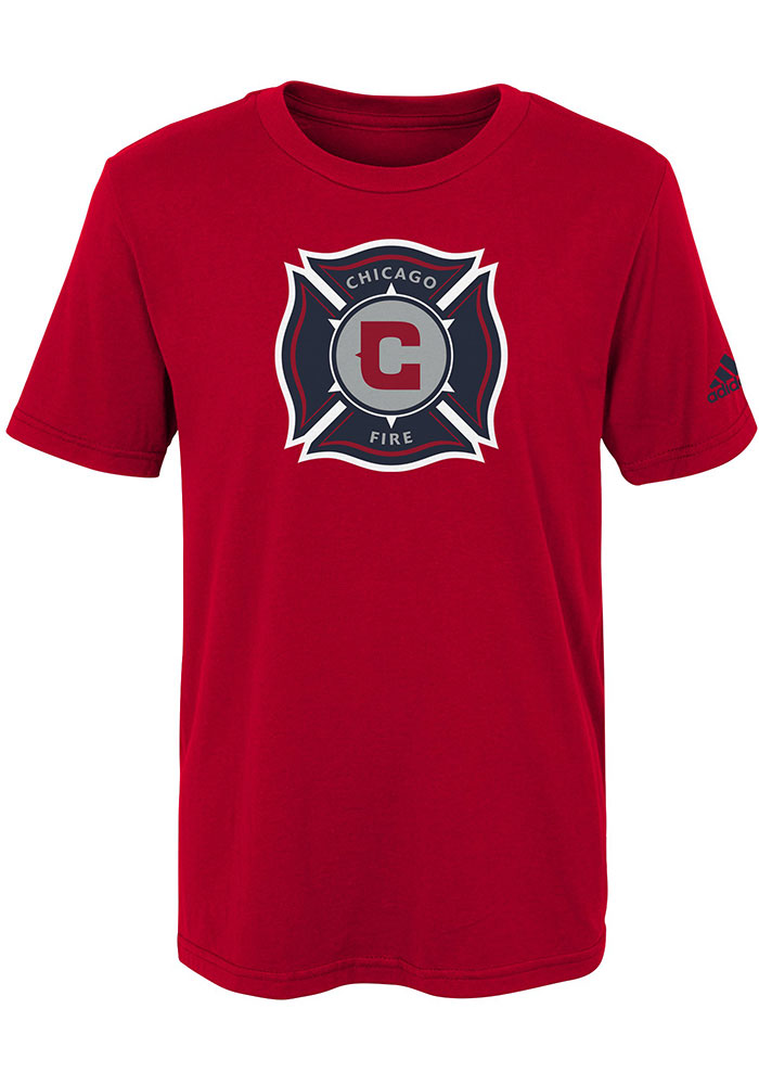 Chicago Fire Boys Red Squad Primary Short Sleeve T-Shirt - Image 1