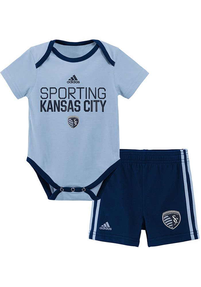 Sporting Kansas City Infant Light Blue Locker Stacked Set Top and Bottom - Image 1