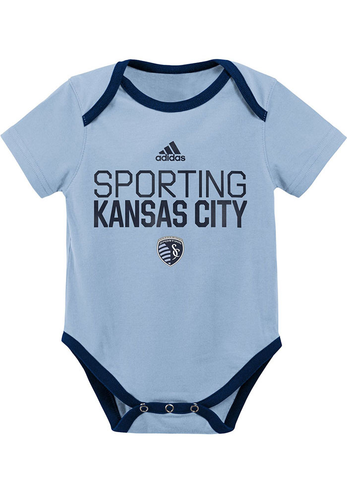 Sporting Kansas City Infant Light Blue Locker Stacked Set Top and Bottom - Image 2