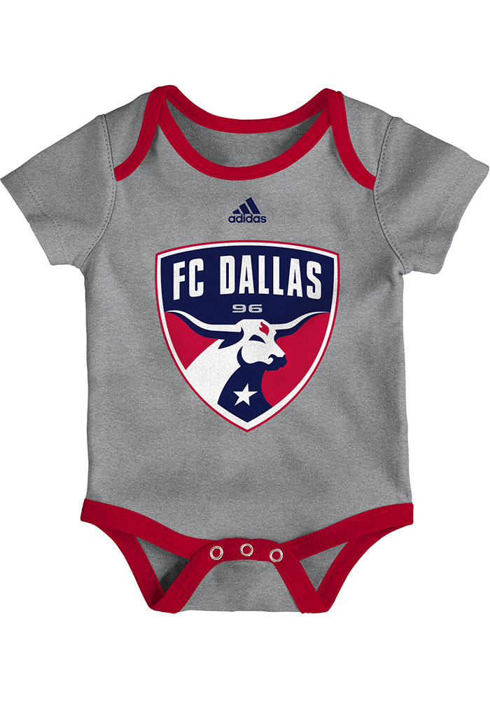 FC Dallas Baby Grey Go To Squad Short Sleeve One Piece - Image 1