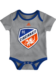 FC Cincinnati Baby Go To Squad One Piece - Grey