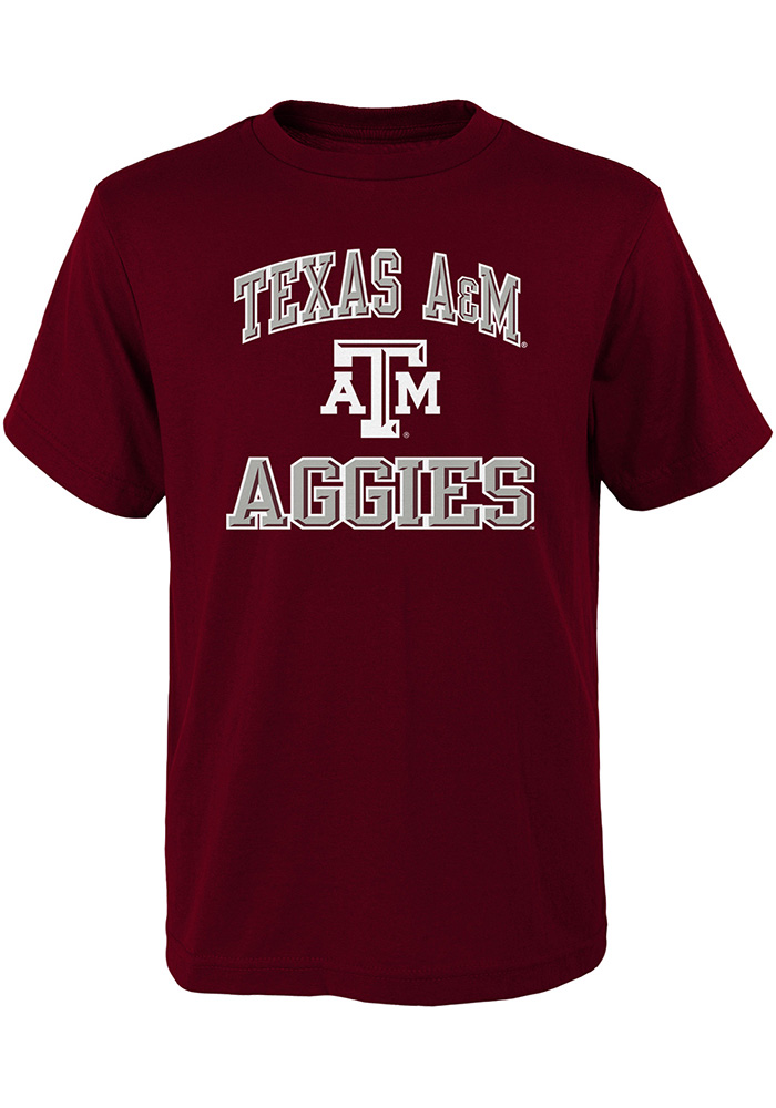 Texas A&M Aggies Youth Maroon Ovation Short Sleeve T-Shirt - Image 1