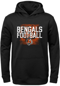 Cincinnati Bengals Youth Attitude Hooded Sweatshirt - Black
