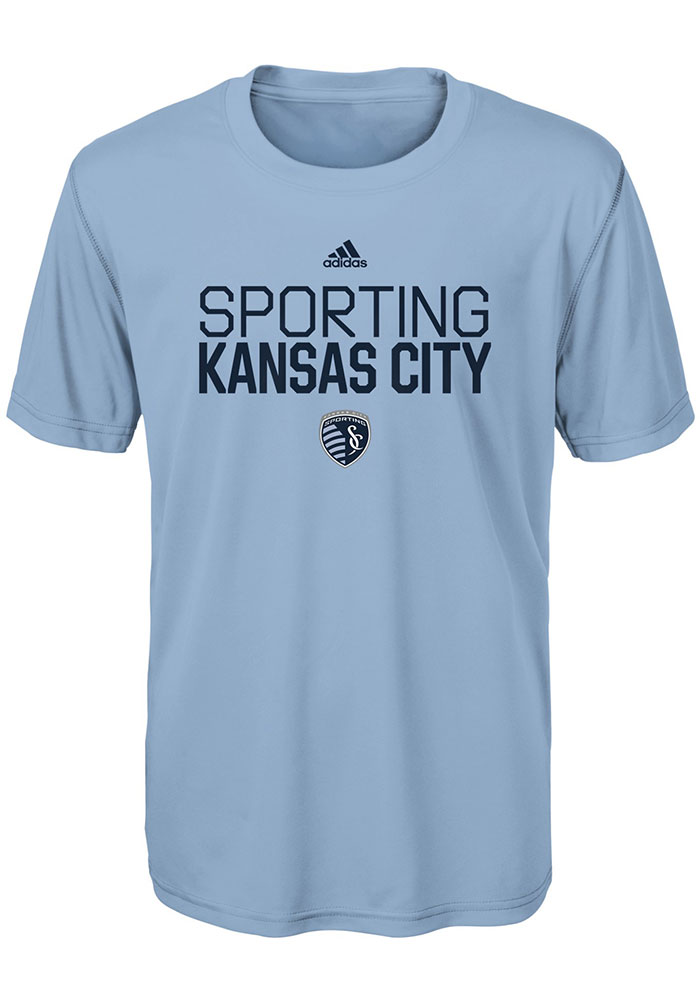 Sporting Kansas City Boys Light Blue Locker Stacked Short Sleeve T-Shirt - Image 1