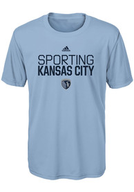 Sporting Kansas City Boys Locker Stacked T-Shirt - Light Blue