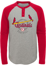 St Louis Cardinals Youth American Athlete Coop T-Shirt - Grey