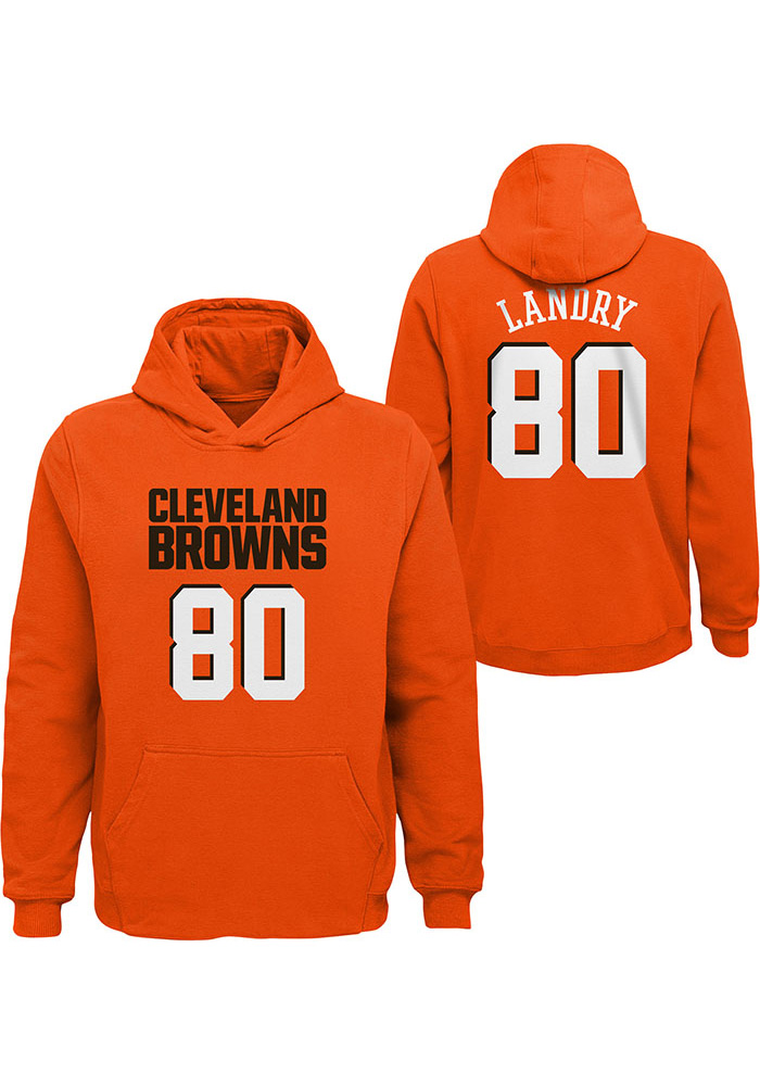 Jarvis Landry Cleveland Browns Youth Orange Name & Number Player Tee - Image 1