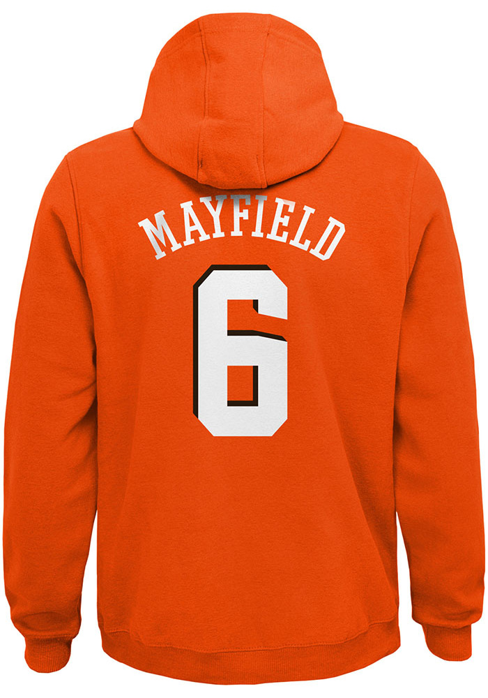 Baker Mayfield Cleveland Browns Youth Orange Name & Number Player Tee - Image 1