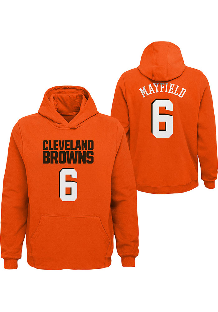 Baker Mayfield Cleveland Browns Youth Orange Name & Number Player Tee - Image 3