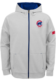 Chicago Cubs Youth Enduring Full Zip Jacket - Grey