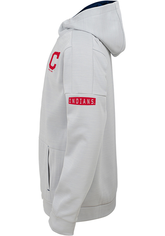 Cleveland Indians Youth Grey Enduring Long Sleeve Full Zip Jacket - Image 2
