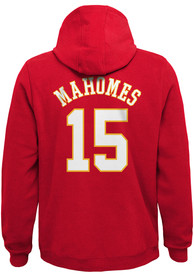 Patrick Mahomes Kansas City Chiefs Youth Name Number Long Sleeve Hoodie Red