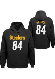Antonio Brown Pittsburgh Steelers Youth Name and Number Long Sleeve Hoodie Black