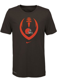 Cleveland Browns Youth Icon T-Shirt - Brown