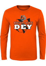 Cincinnati Bengals Youth Seize The Dey T-Shirt - Orange
