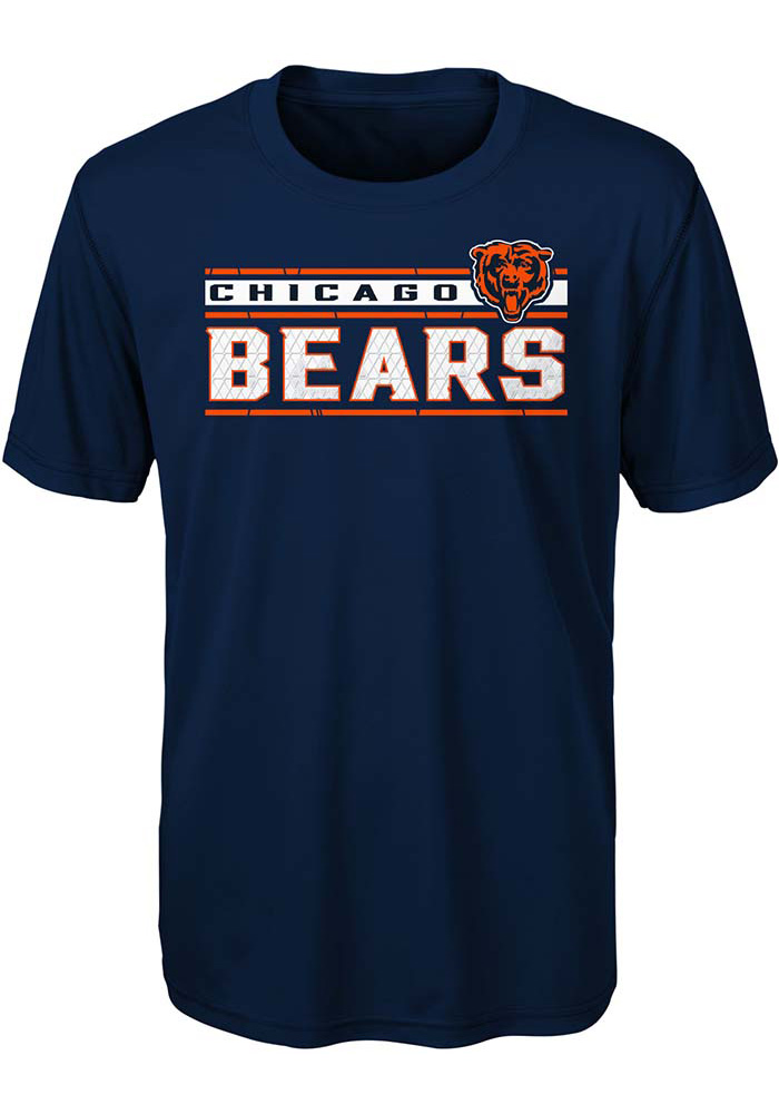 Chicago Bears Youth Navy Blue Re-Generation Short Sleeve T-Shirt - Image 1