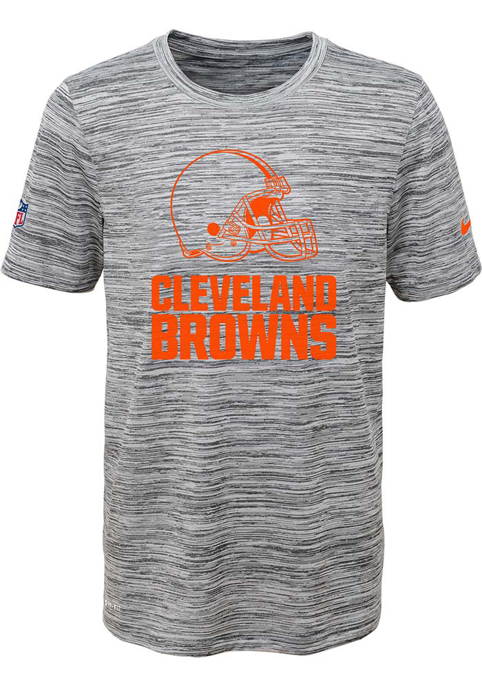 Cleveland Browns Youth Grey Legend Velocity Short Sleeve T-Shirt - Image 1