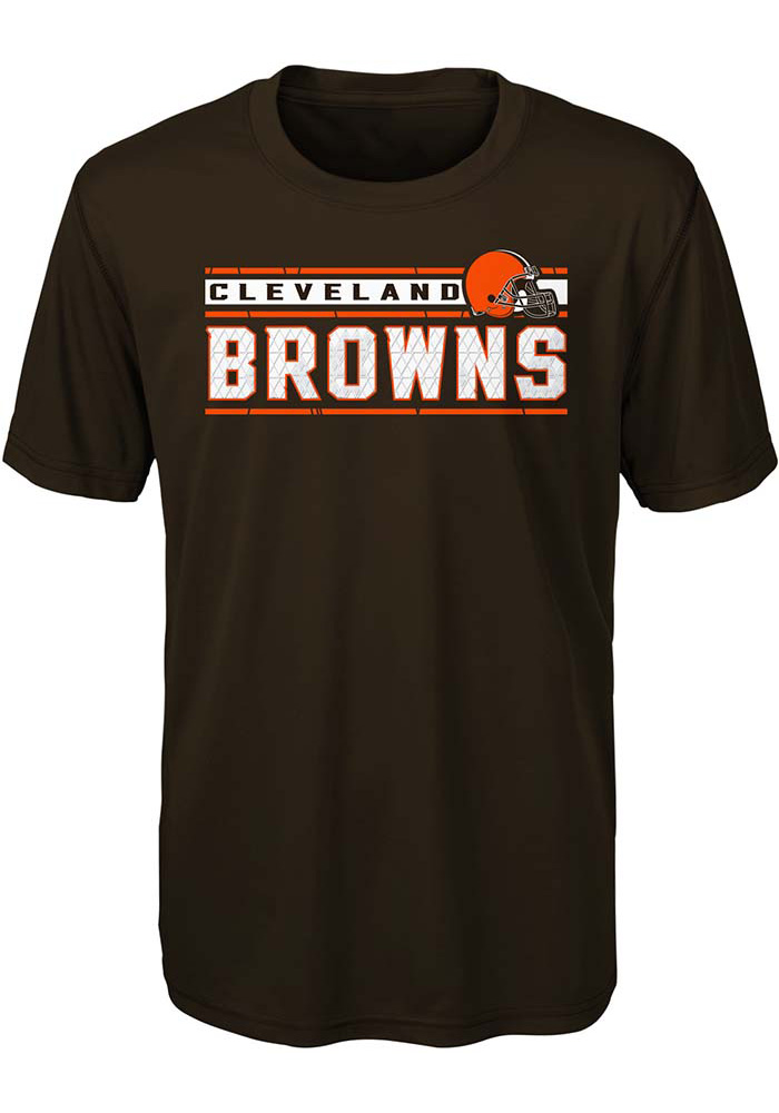 Cleveland Browns Youth Brown Re-Generation Short Sleeve T-Shirt - Image 1