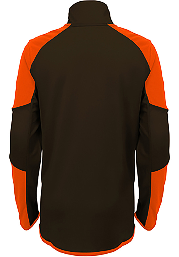 Cleveland Browns Boys Brown Beta Long Sleeve 1/4 Zip Pullover - Image 3