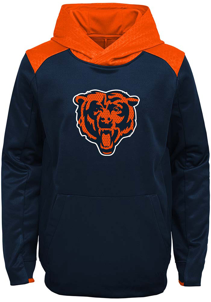 Chicago Bears Boys Navy Blue Off The Grid Long Sleeve Hooded Sweatshirt - Image 1