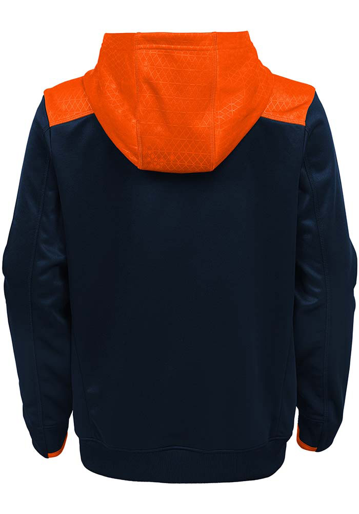 Chicago Bears Boys Navy Blue Off The Grid Long Sleeve Hooded Sweatshirt - Image 2