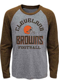 Cleveland Browns Boys Classic Gridiron Fashion T-Shirt - Brown