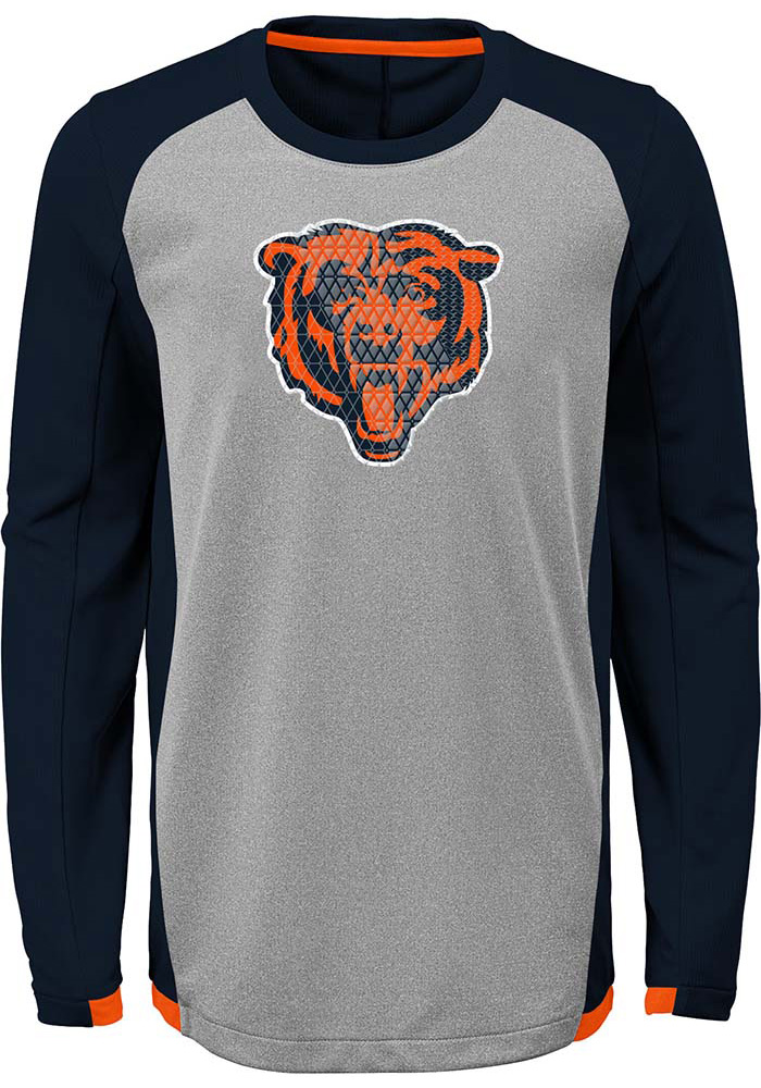 Chicago Bears Boys Grey Mainframe Long Sleeve T-Shirt - Image 1