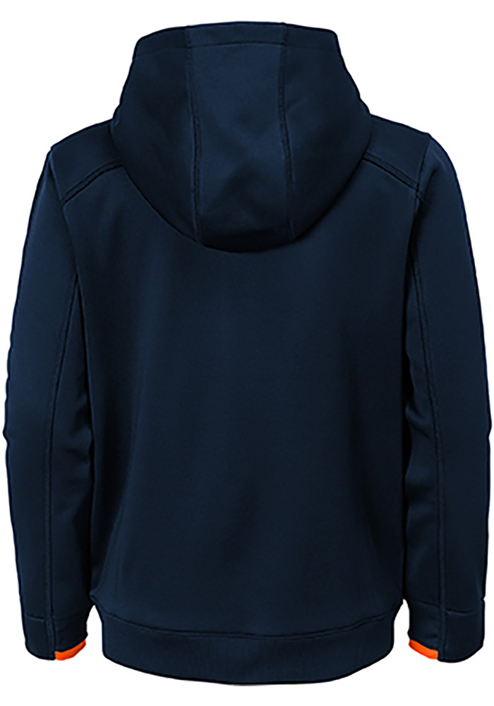 Chicago Bears Boys Navy Blue Hi-Tech Long Sleeve Full Zip Hooded Sweatshirt - Image 3