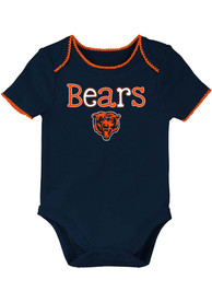 Chicago Bears Baby 3rd Quarter One Piece - Navy Blue