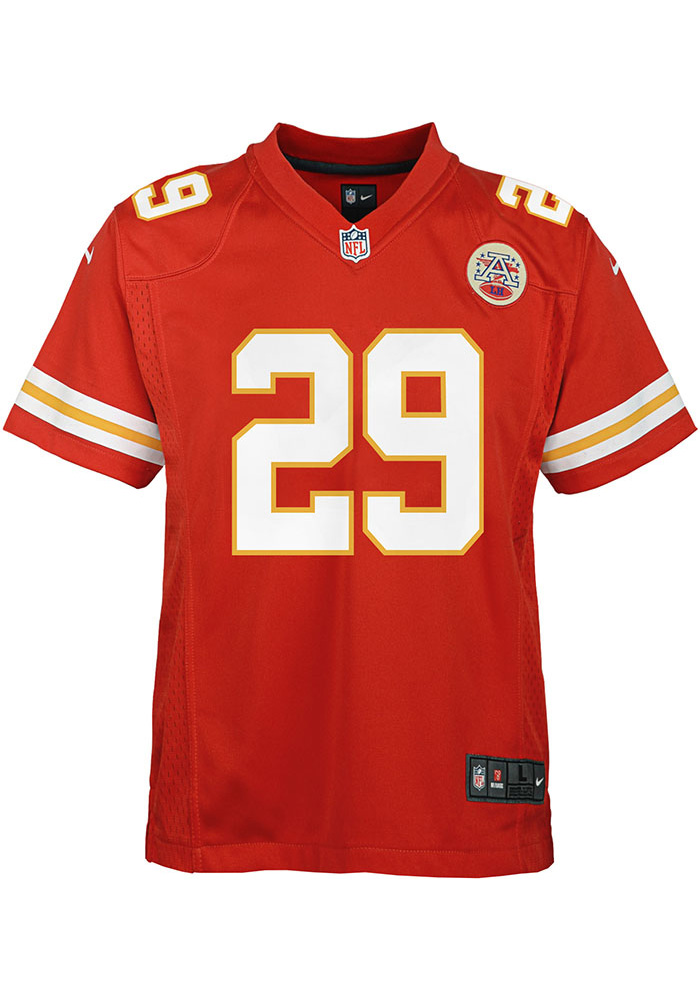 Eric Berry Kansas City Chiefs Youth Red Nike Home Football Jersey - Image 2