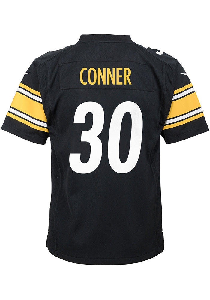 James Conner Outer Stuff Pittsburgh Steelers Youth Black 2018 Home Football Jersey - Image 1