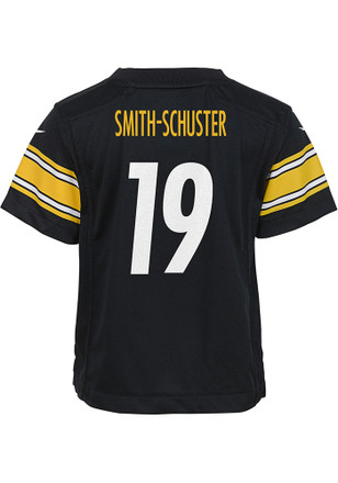 133f1023dfa JuJu Smith-Schuster Outer Stuff Pittsburgh Steelers Youth Black 2018 Home  Jersey