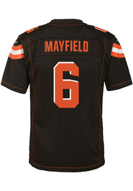 82cb497f3 Baker Mayfield Cleveland Browns Youth 2018 Home Football Jersey - Brown