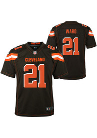 promo code ddf0f ceaa1 Denzel Ward Cleveland Browns Youth 2018 Home Football Jersey - Brown