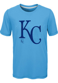 Kansas City Royals Youth All Action T-Shirt - Light Blue