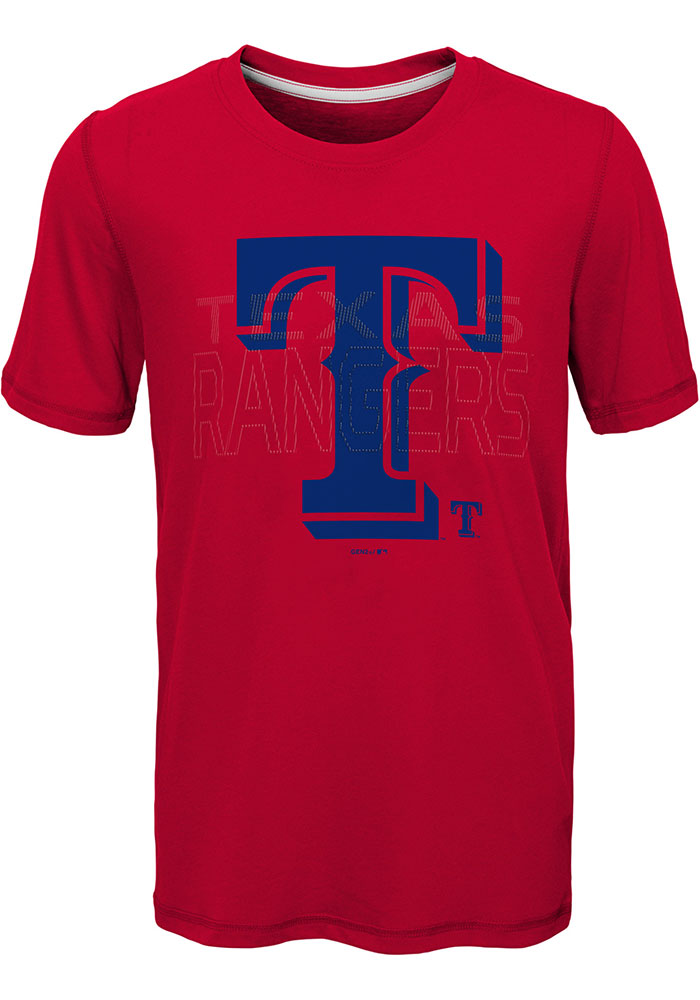 Texas Rangers Youth Red All Action Short Sleeve T-Shirt - Image 1