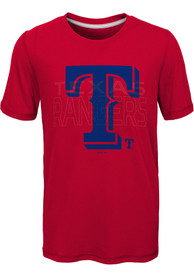 Texas Rangers Youth All Action T-Shirt - Red