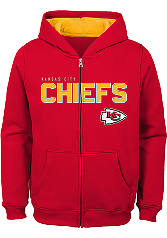 Kansas City Chiefs Youth Red Stated Long Sleeve Full Zip Jacket - Image 1